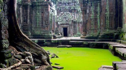 Angkor Wat temple inner view