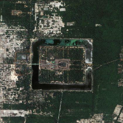 Angkor Wat Temple Aerial View