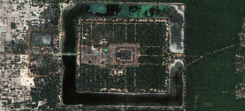 Angkor Wat Temple - aerial view